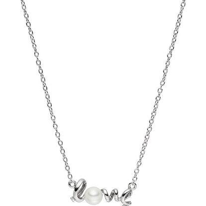 Náhrdelník s perlovým přívěskem Pearls of London Love, 42cm