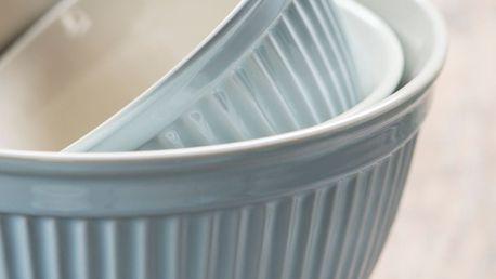 IB LAURSEN Keramická mísa Mynte Stillwater Velikost M, modrá barva, keramika