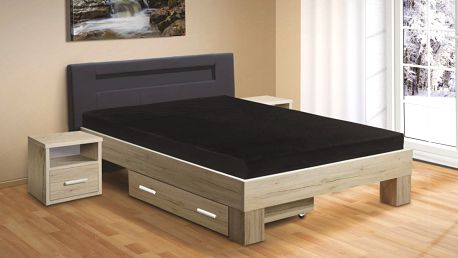 Moderní postel MEADOW 200x120 vč. roštu a matrace