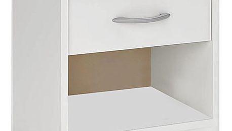 Noční stolek 1 ks D0212 bílý Dekorhome
