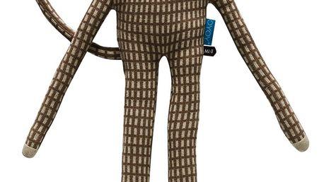 OYOY Dětský polštářek/plyšák opičák Mr. Nelsson, béžová barva, hnědá barva, krémová barva, textil