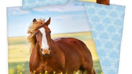 Herding Bavlněné povlečení Horse Freedom, 140 x 200 cm, 70 x 90 cm