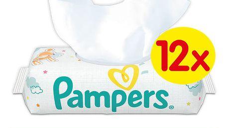 12x PAMPERS Sensitive 56 ks - vlhčené ubrousky