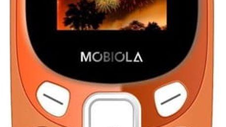 Mobilní telefon Mobiola MB3000 oranžový (MB3000CZO)