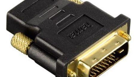 Redukce Hama HDMI / DVI, pozlacená černá (34035)