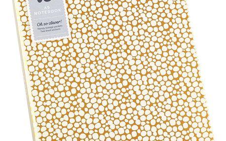Zápisník A5 ve zlaté barvě s přihrádkou BusyB