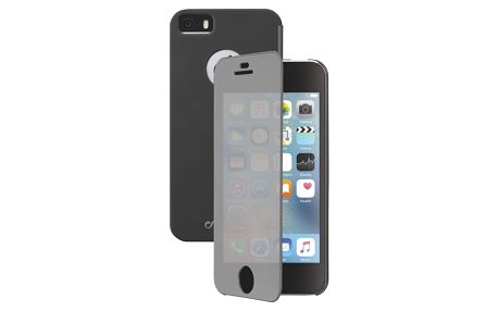 Pouzdro na mobil flipové CellularLine Touch pro Apple iPhone 5/5s/SE černé (BOOKTOUCHIPH5K)