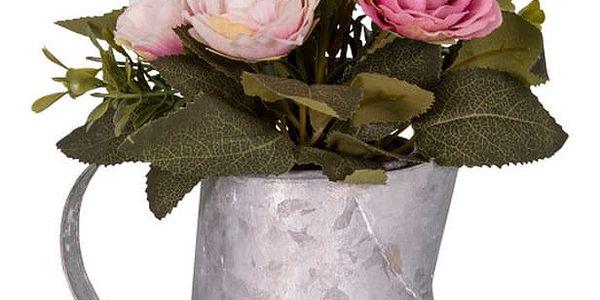 Šedobílá váza s květinami AnticLine - doprava zdarma!