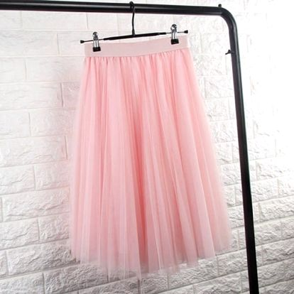 Dámská tylová midi sukně - 9 barev