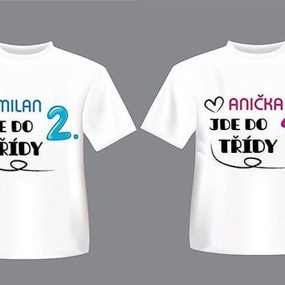 Kvalitní tričko pro školáky s personalizovaným potiskem