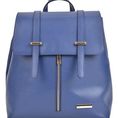 Modrý kožený batoh Sofia Cardoni Backon