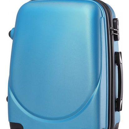 Dámský modrý kufr na kolečkách Gyna 1602