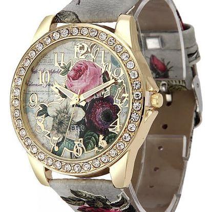 Dámské hodinky s květinami - 6 barev
