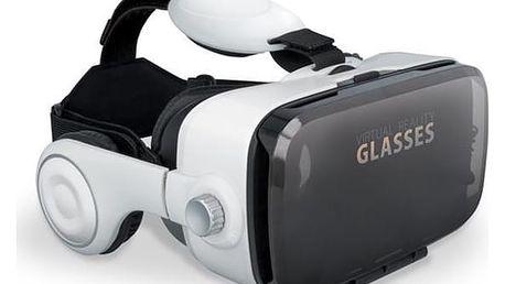 Brýle pro virtuální realitu Forever VRB-200 s mikrofonem bílá (VRB-200)