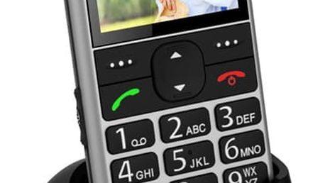 Mobilní telefon CPA Halo 11 stříbrný (TELMY1011SI)