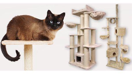 Škrabadla a šplhací stromy pro kočky