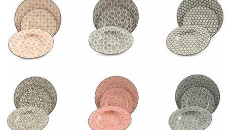 18dílná sada barevného nádobí z kameniny Villa d'Este Piper - doprava zdarma!