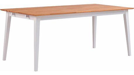 Přírodní dubový jídelní stůl s bílými nohami Folke Mimi, délka 180cm