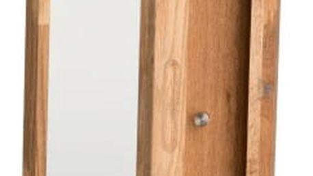 Přírodní dubová skříňka na klíče se zrcadlem Folke Sol