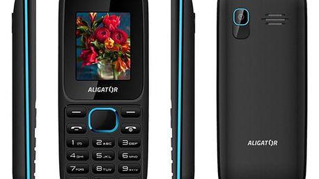 Mobilní telefon Aligator D200 Dual Sim černý/modrý (AD200BB)