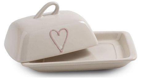 Keramická máselnička Heart, sv. červená