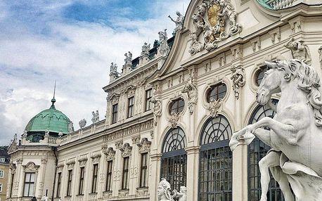 Krásná kulturní Vídeň romanticky v hotelu na břehu Dunaje s polopenzí
