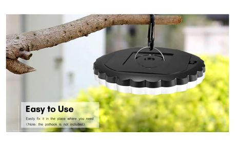 LED venkovní světlo pro lepší kempování