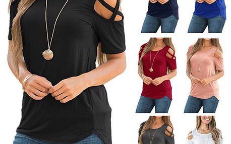 Dámské letní tričko s poodhalenými rameny Lally