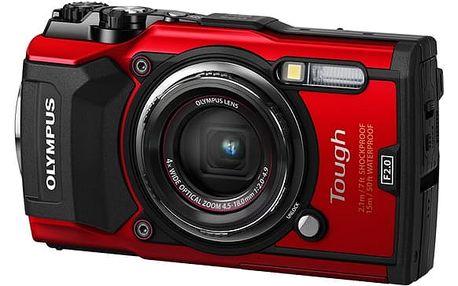 Digitální fotoaparát Olympus TG-5 červený (4545350051112)