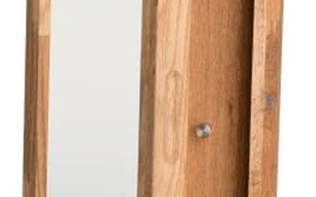 Přírodní dubová skříňka na klíče se zrcadlem Rowico Sol - doprava zdarma!