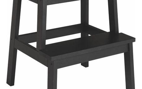 Černá dubová stolička/schůdky Folke Nanna