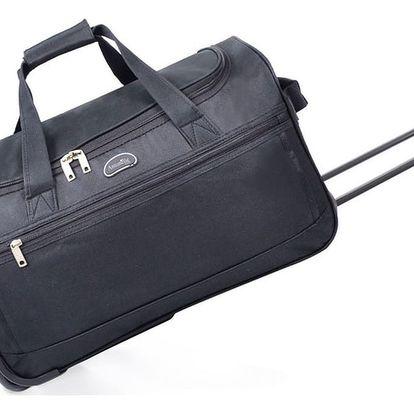 Černá cestovní taška na kolečkách Hero,43l