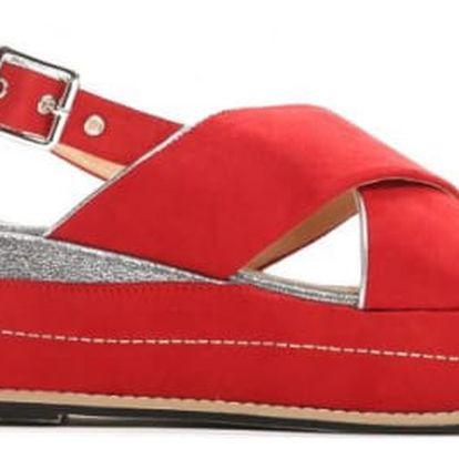 Dámské červené sandály na platformě Silvia 9212