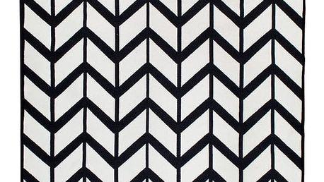Černobílý oboustranný koberec Homedebleu Kirke, 80 x 150 cm