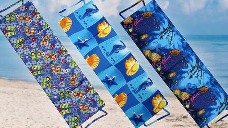 Měkká skládací plážová lehátka pro vaše pohodlí na dovolené