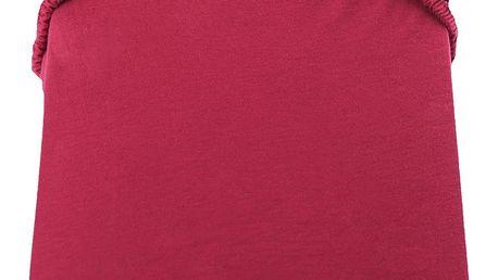 Červené prostěradlo DecoKing Amber Collection, 220-240 x 200 cm
