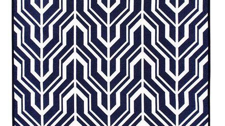 Modrobílý oboustranný koberec Homedebleu Herakles, 80 x 150 cm