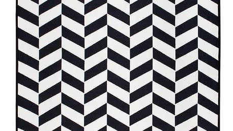 Černobílý oboustranný koberec Homedebleu Morpheus, 80 x 150 cm