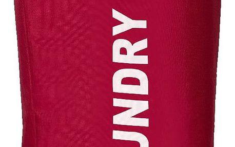 Červený koš na prádlo Wenko Lumo, 45 l