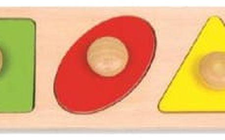Dřevěná vkládačka pro nejmenší - geometrické tvary