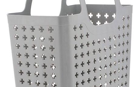 Šedá plastová nákupní taška Compactor Caddie