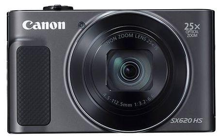 Digitální fotoaparát Canon SX620 HS (1072C002) černý Pouzdro na foto/video Canon DCC-1500 černé v hodnotě 438 Kč + DOPRAVA ZDARMA