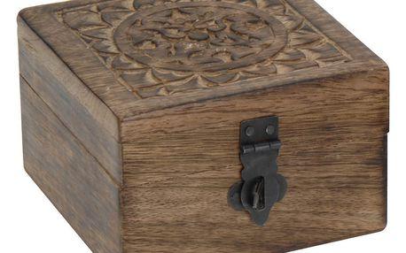 Dřevěný box - ze tmavého dřeva Home Styling Collection