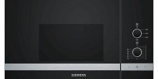 Mikrovlnná trouba Siemens BF550LMR0 černá/nerez