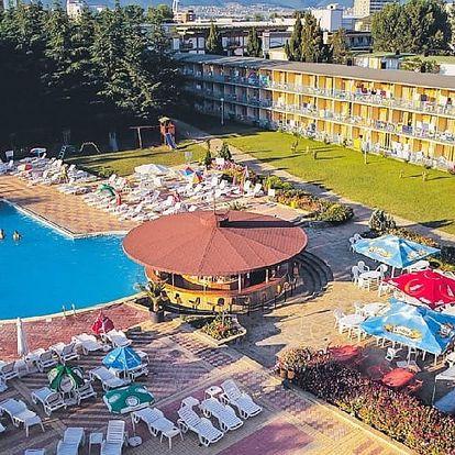 Bulharsko - Slunečné Pobřeží na 8 dní, light all inclusive nebo snídaně s dopravou letecky z Brna, Sliače nebo Prahy 250 m od pláže