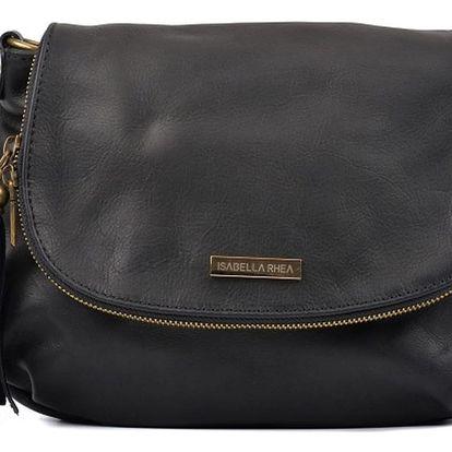 Černá kožená kabelka Isabella Rhea Dunia
