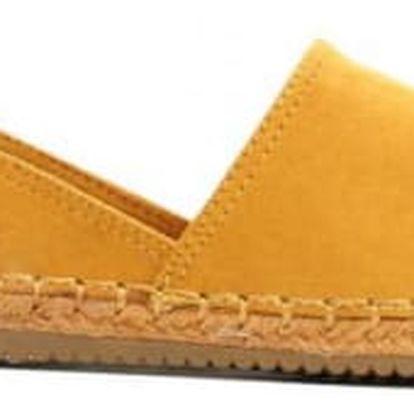 Dámské žluté espadrilky Adina 8417