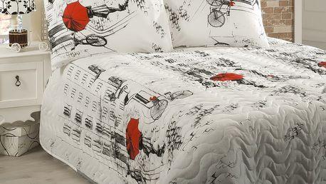 Přehoz přes postel na dvoulůžko s povlaky na polštáře Semspare,200x220cm