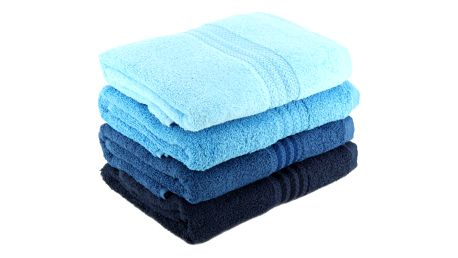 Sada 4 modrých bavlněných ručníků Rainbow Sky,50x90cm