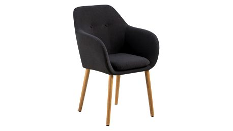 Tmavě šedá jídelní židle Actona Emilia